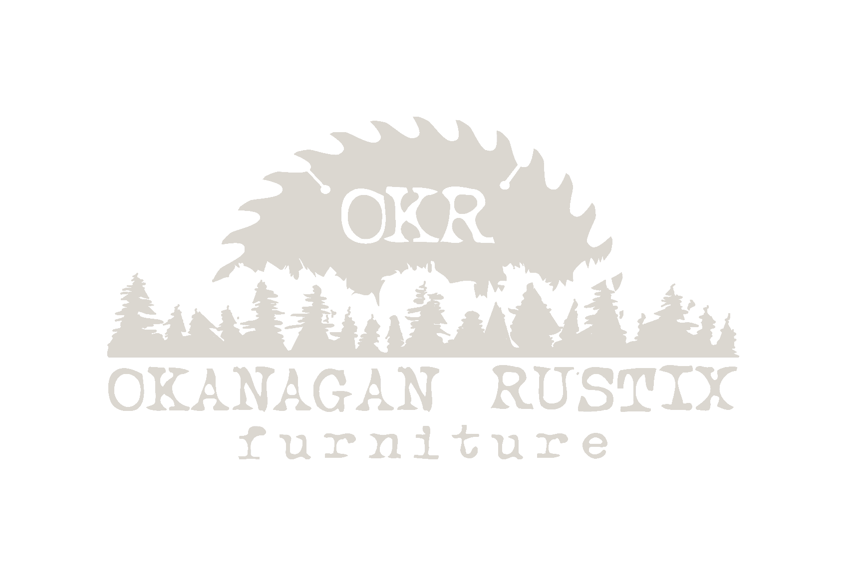 Logo for OKR Okanagan Rustic Furniture